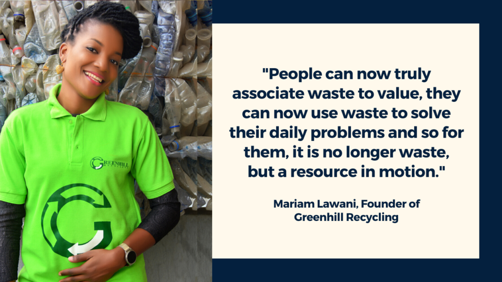 Mariam Lawani, Greenhill Recycling